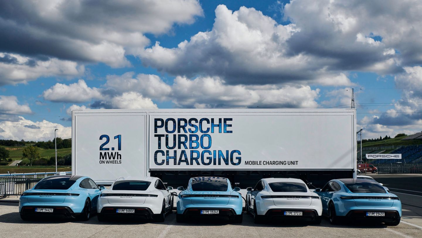 Taycan Turbo S, High-power charging truck, 2020, Hungaroring, Budapest, Hungary, Porsche AG