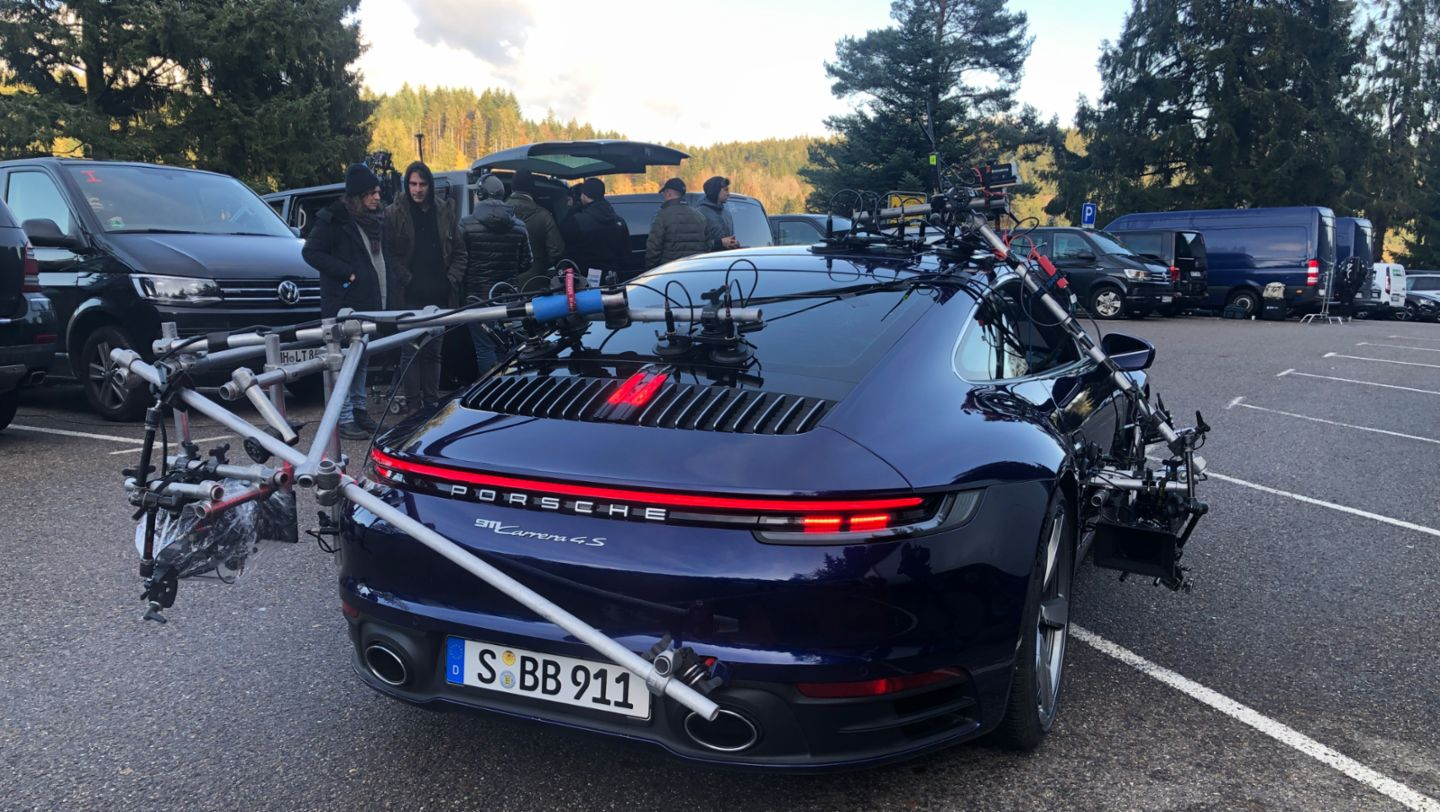 911 Carrera 4S, Behind the scenes commercial «The Heist», 2020, Porsche AG