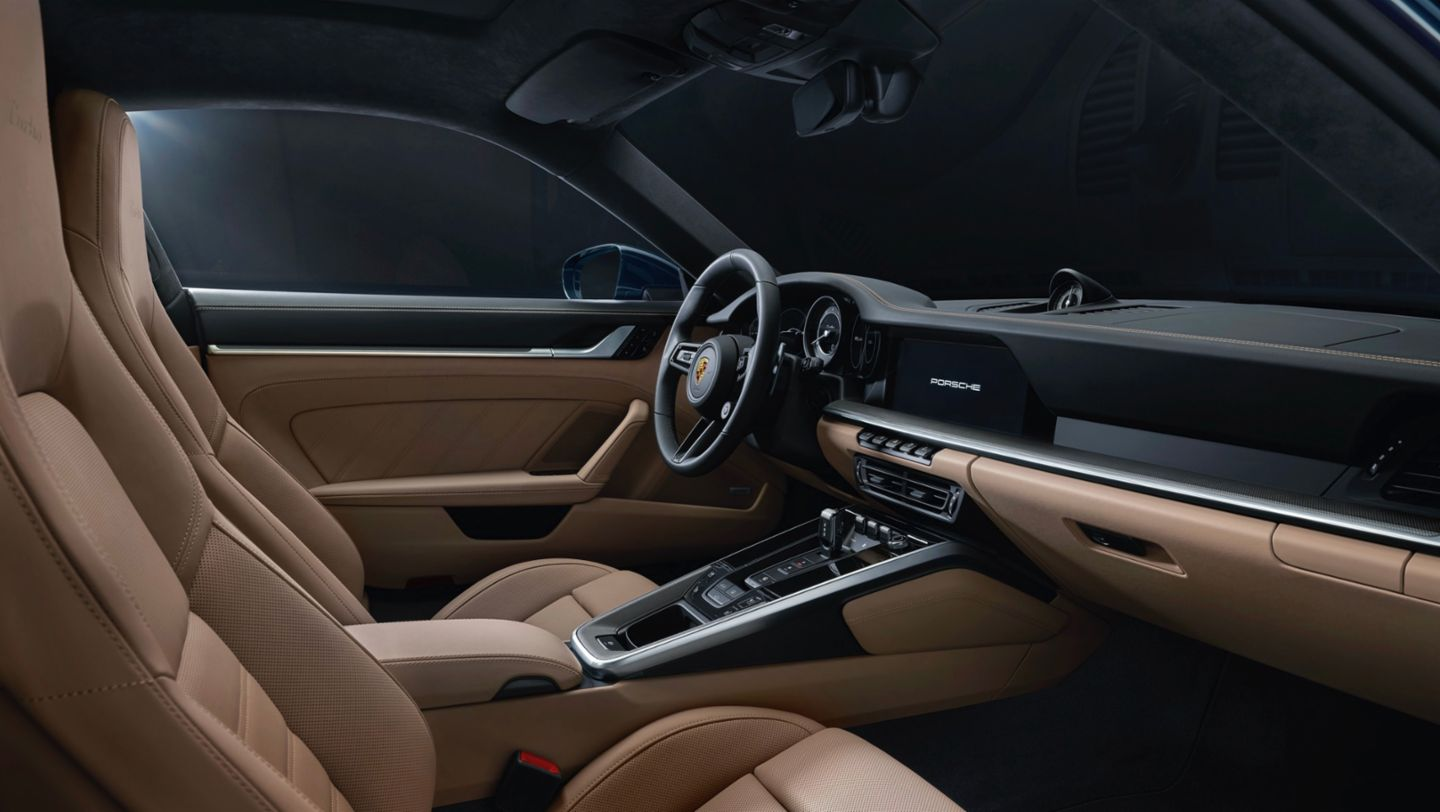 911 Turbo, interior, 2020, Porsche AG