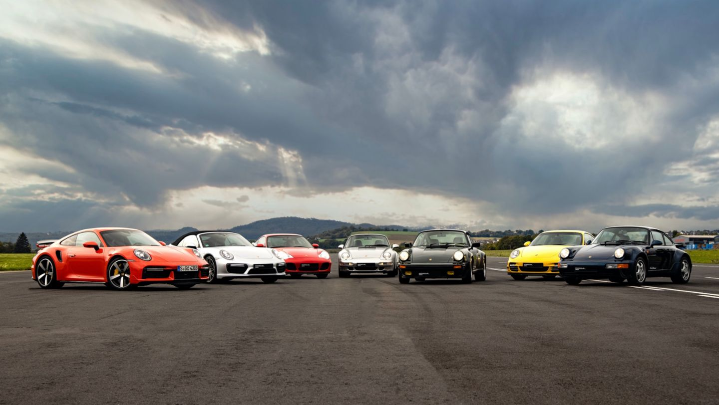911 Turbo (992), 911 Turbo (991II), 911 Turbo (997II), 911 (996), 911 Turbo (993), 911 Turbo (964), 930, Hockenheimring, 2020, Porsche AG