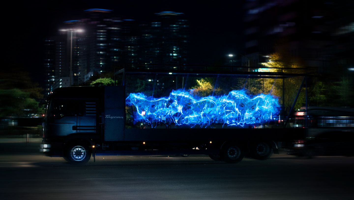 The all-electric Porsche Taycan launches in Korea with a breath-taking hologram show - Image 7