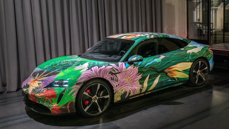 Taycan Artcar by Richard Phillips, Zurich, Switzerland, 2021, Porsche AG