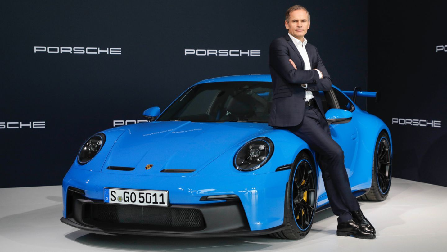 Oliver Blume, Chairman of the Executive Board of Dr. Ing. h.c. F. Porsche AG, 911 GT3, Annual Press Conference, 2021, Porsche AG