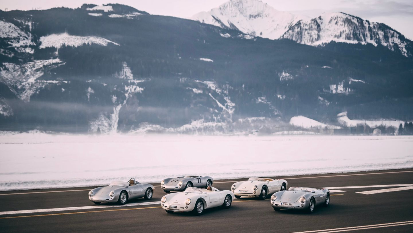 550 Spyder, Cold Start by GP, Zell am See, Austria, 2021, Porsche AG