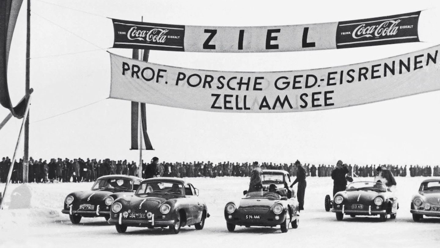 Ice Race, Lake Zell, Austria, 1952, Porsche AG