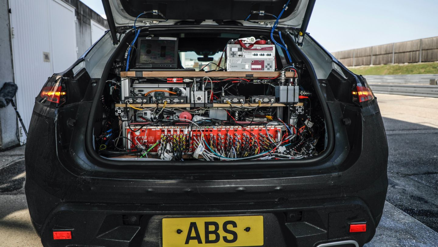 Prototype of the all-electric Macan, Weissach, 2021, Porsche AG