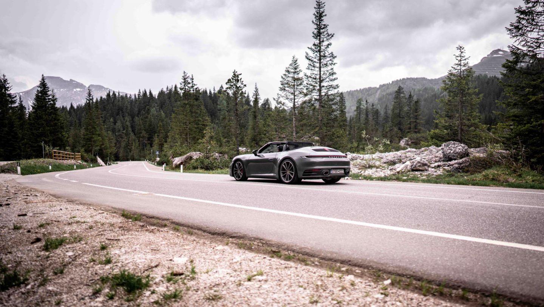 911 Carrera S Cabriolet, 2021, Sellaronda, Dolomiten, Italien