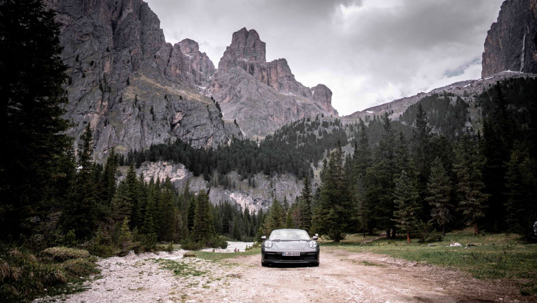 911 Carrera S Cabriolet, 2021, Sella Ronda, Dolomites, Italy