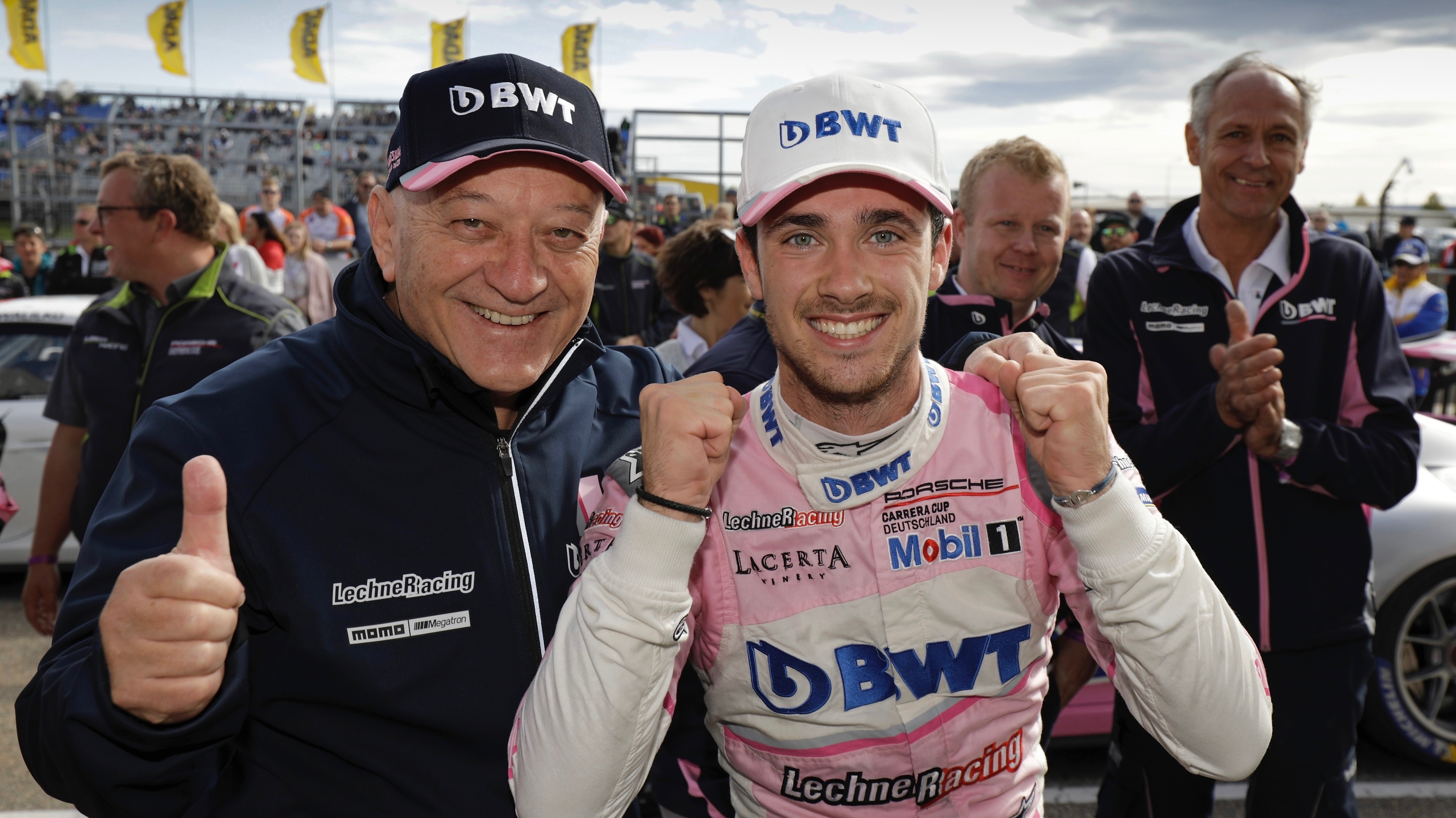 Walter Lechner, BWT Lechner Racing, Julien Andlauer, Winner of the Porsche Carrera Cup Deutschland, l-r, 2019, Porsche AG
