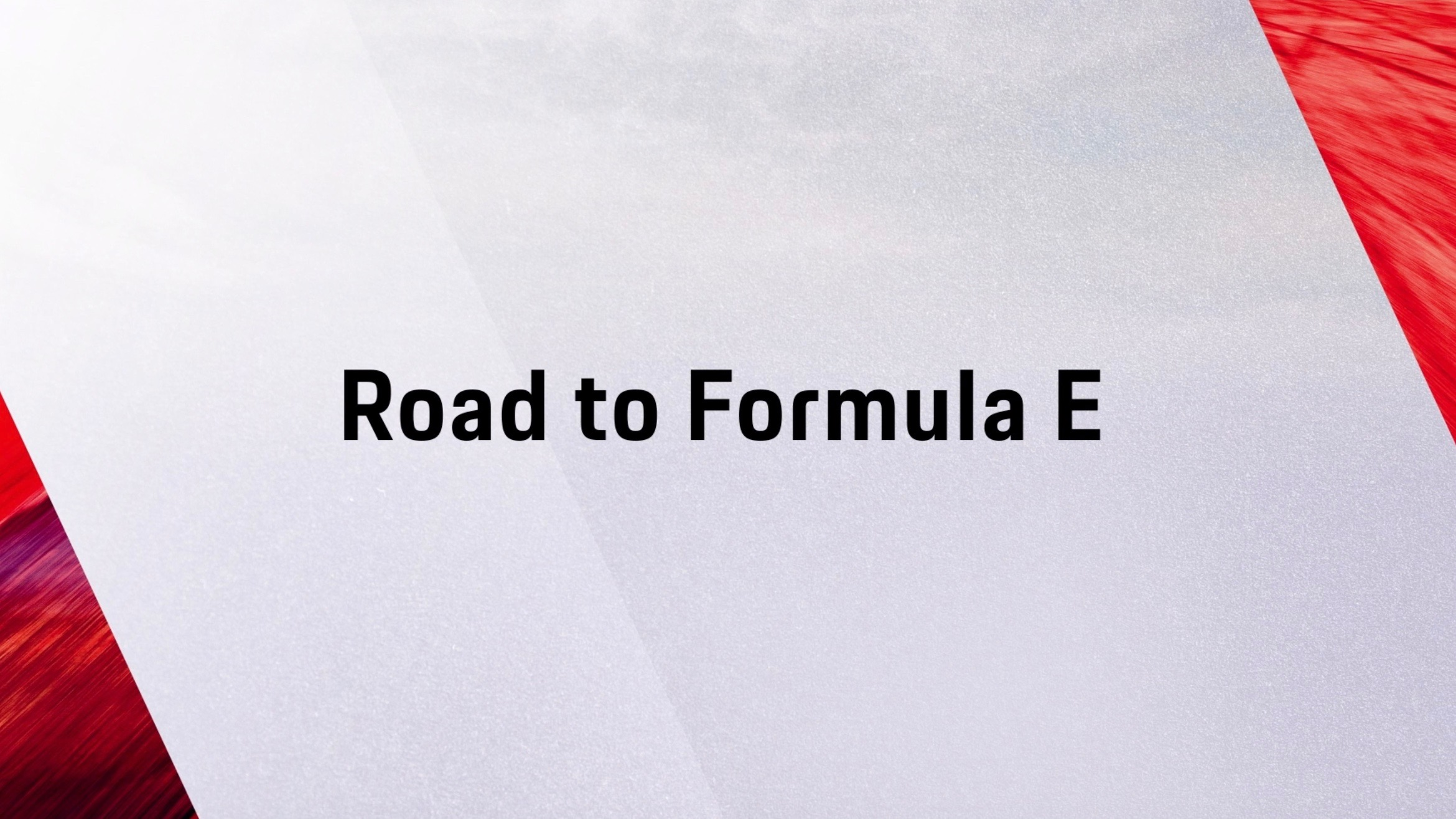 Die Road to Formula E als Animation