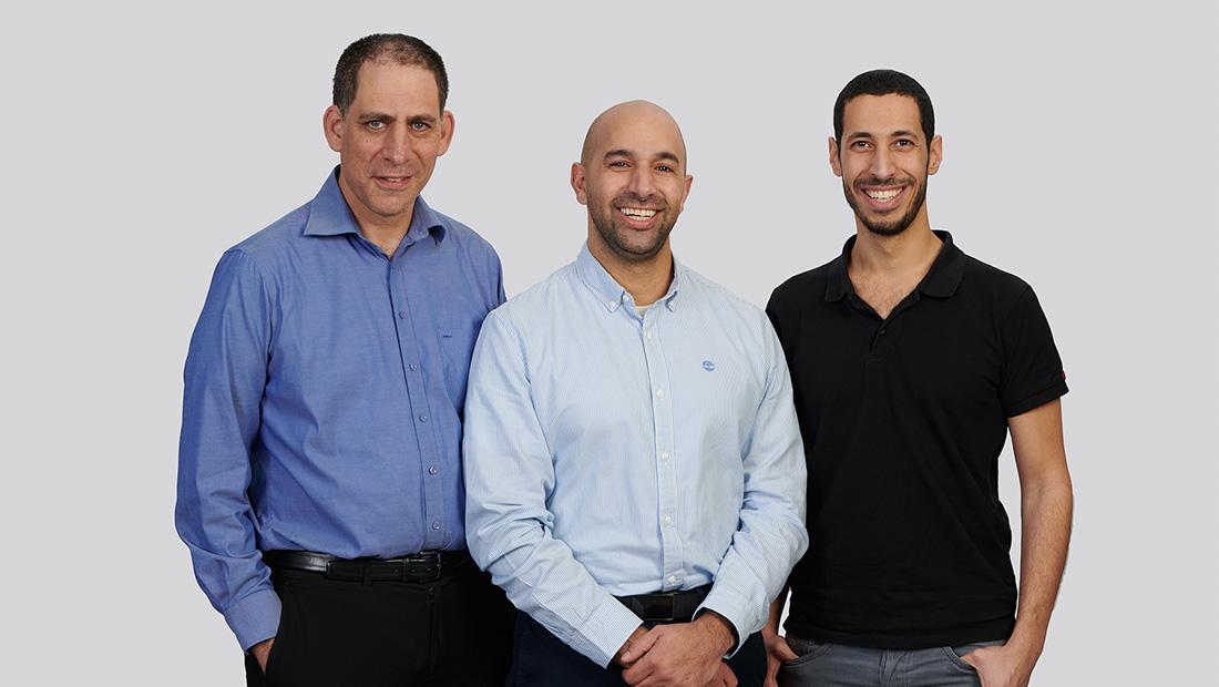 TriEye Gründer Uriel Levy, Avi Bakal und Omer Kapach (l-r), 2019, Porsche AG