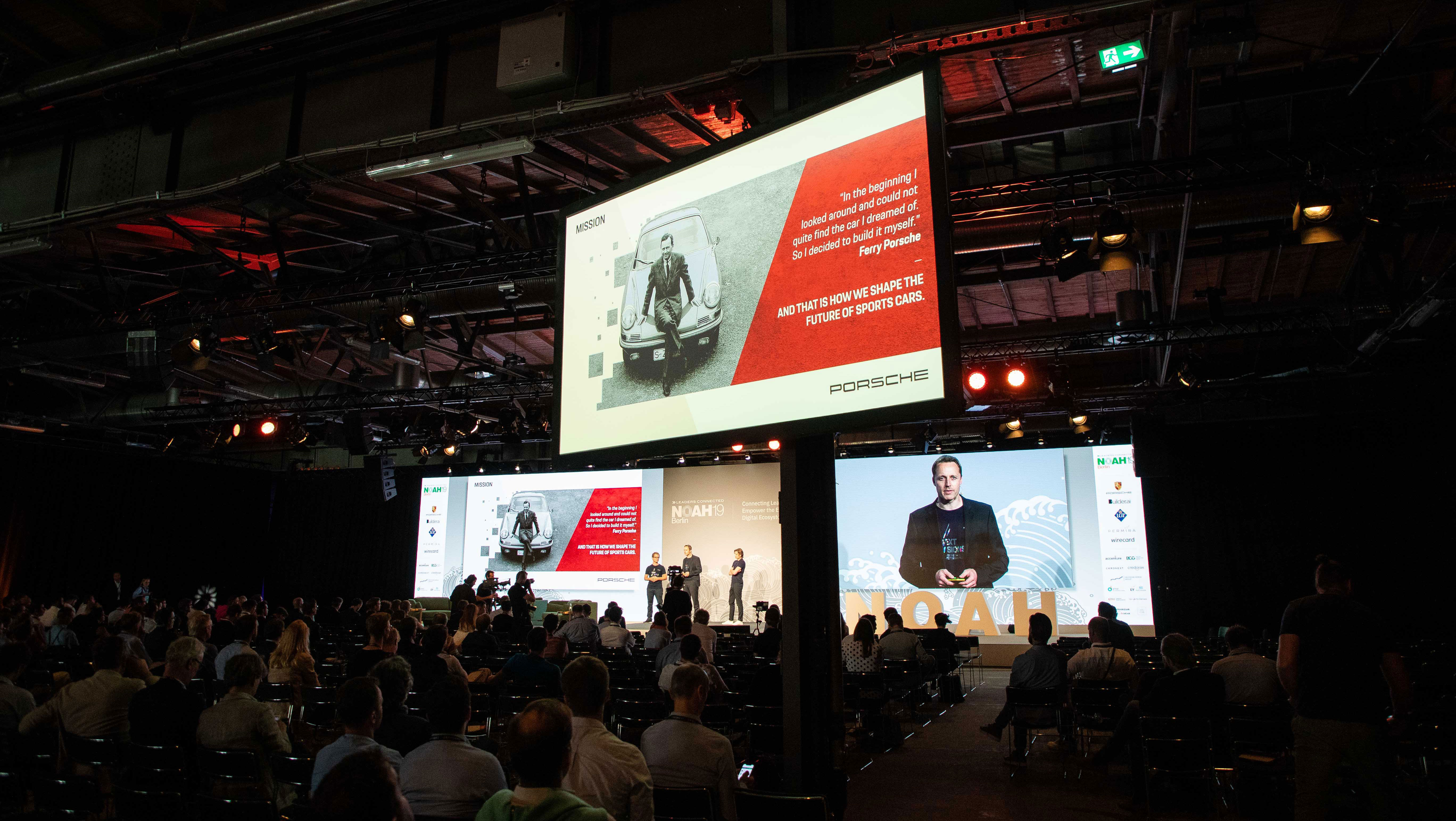Porsche as the main strategic partner at the NOAH Conference Berlin 2019