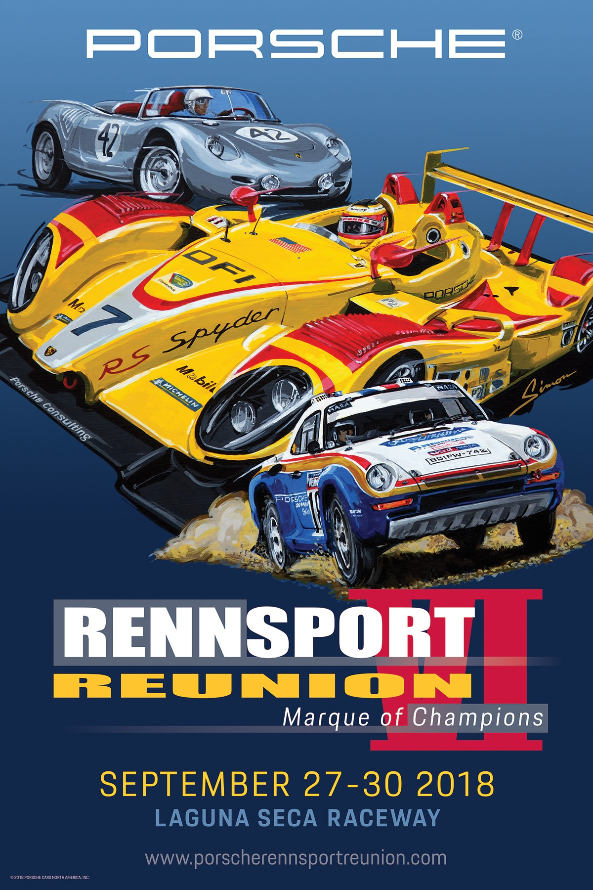 Official Poster for Rennsport Reunion VI, 2018, Porsche AG