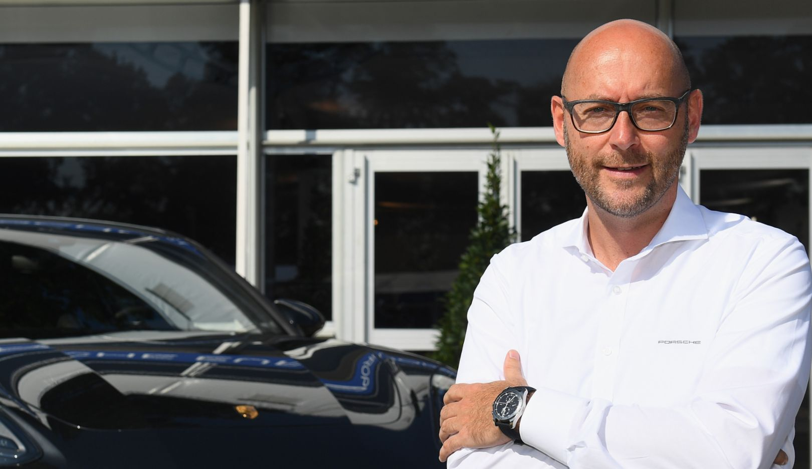 Oliver Eidam, Head of Brand Partnerships and Sponsoring Porsche AG, Panamera Turbo, Porsche European Open, 2016, Porsche AG