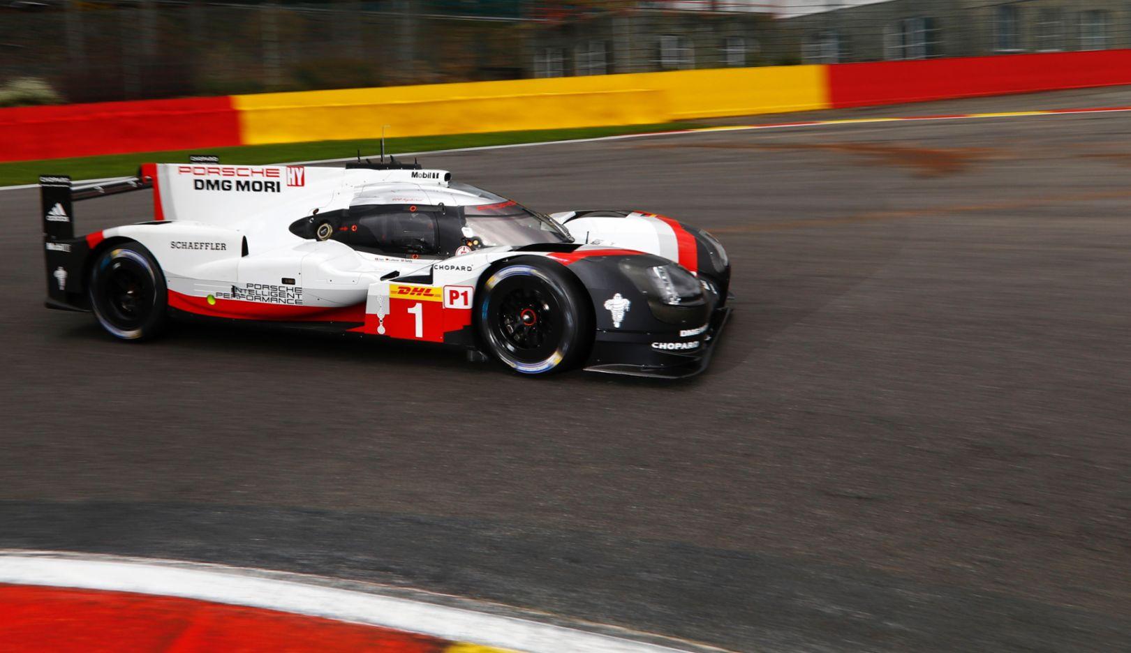 919 Hybrid, WEC, Training, Spa-Francorchamps, Belgien, 2017, Porsche AG