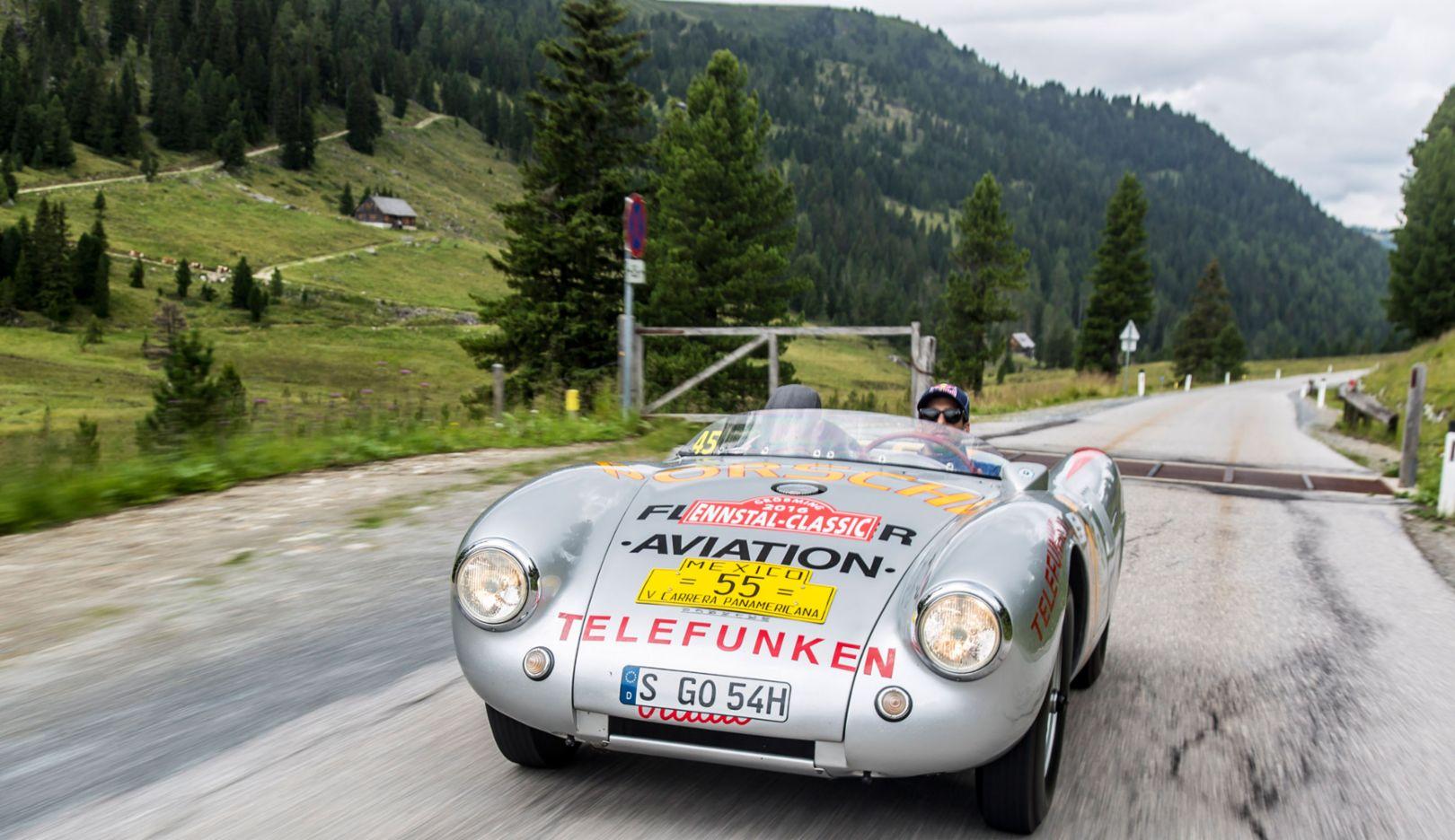 550 Spyder, Neel Jani, works driver, Ennstal-Classic, 2016, Porsche AG