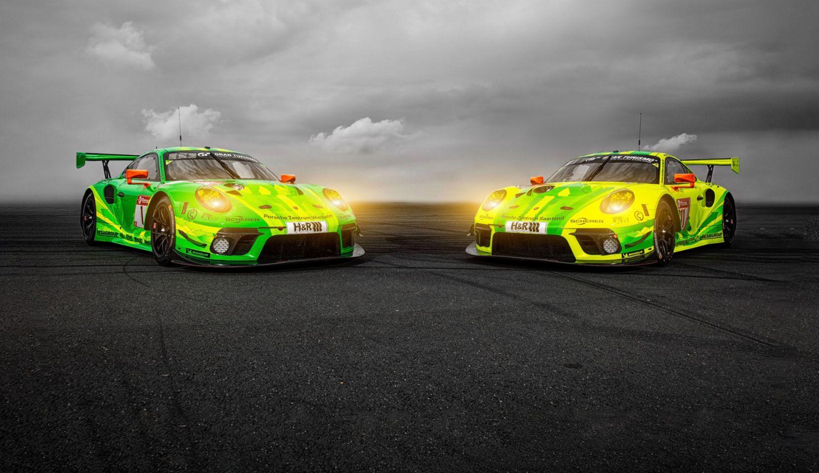 Porsche 911 GT3 R, Manthey-Racing #1, Richard Lietz (A), Frédéric Makowiecki (F), Patrick Pilet (F), Nick Tandy (GB), Manthey-Racing #911, Earl Bamber (NZ), Michael Christensen (DK), Kévin Estre (F), Laurens Vanthoor (B), 2019, Porsche AG
