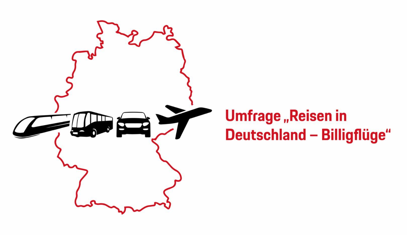 """Umfrage """"Reisen in Deutschland – Billigflüge"""