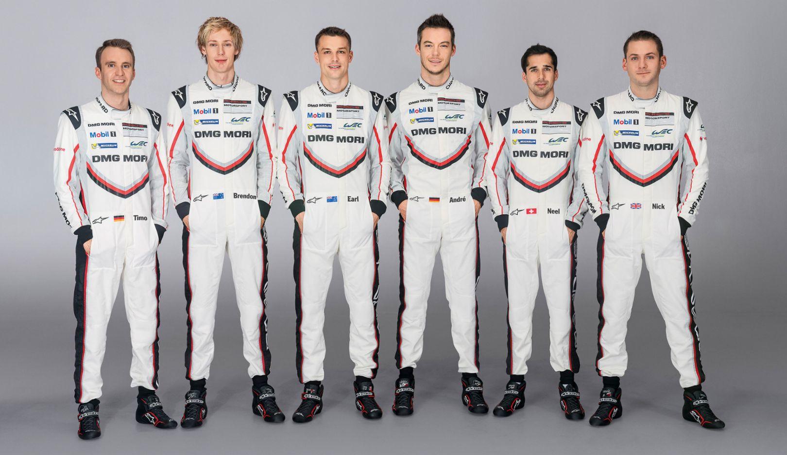 Fahrer Porsche LMP Team 2017, Porsche AG
