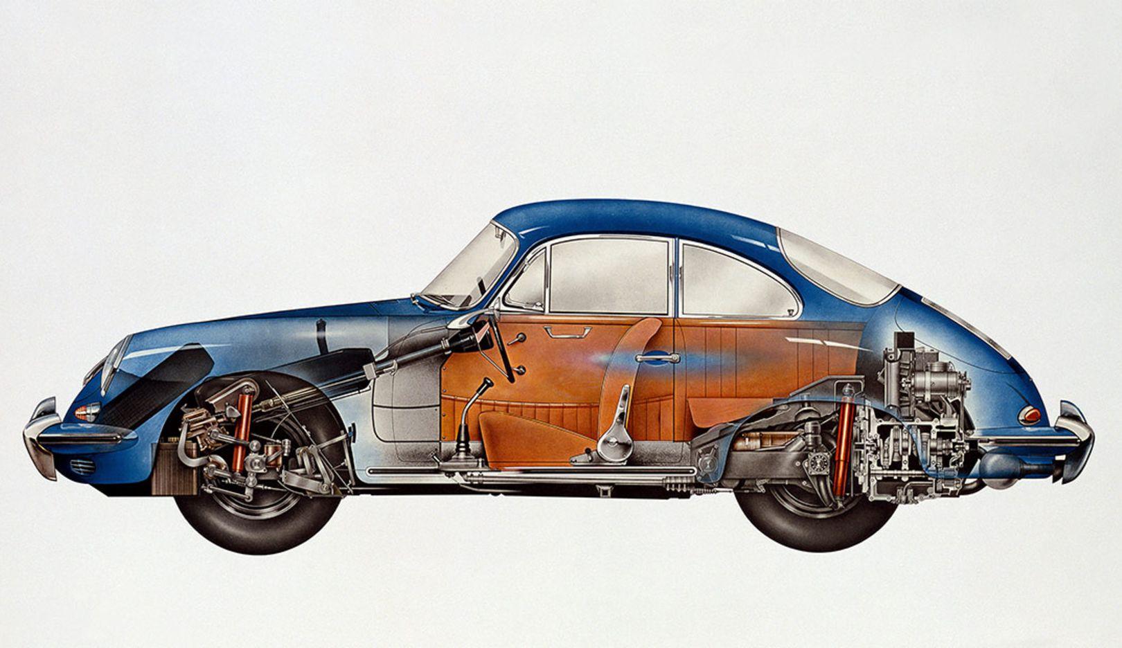 Röntgenblick eines Porsches, 2014, Porsche AG