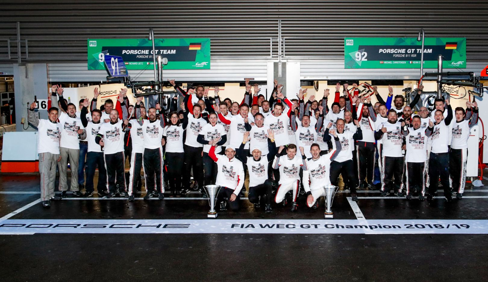 Porsche GT Team, World champion FIA-WEC, Spa-Franchorchamps, 2019, Porsche AG