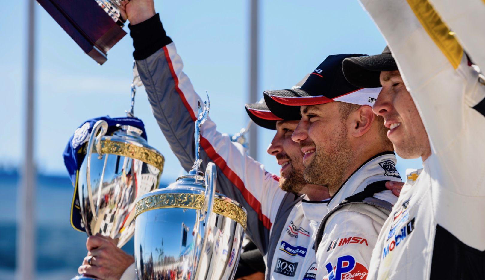 Earl Bamber, Laurens Vanthoor, l-r, IMSA SportsCar Championship, Long Beach, 2019, Porsche AG