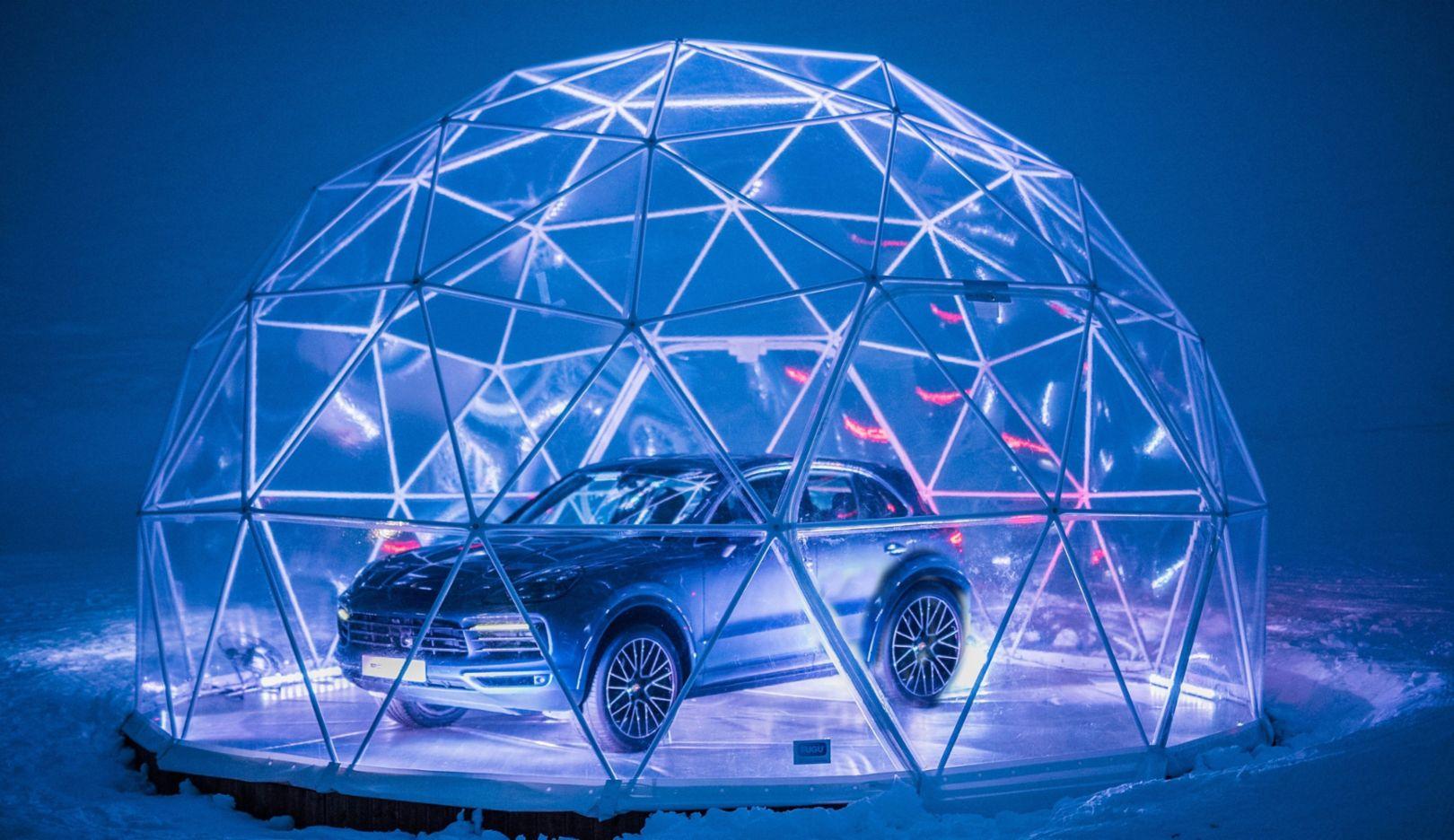 Cayenne, Porsche Pop-up-Store, Méribel, 2018, Porsche AG