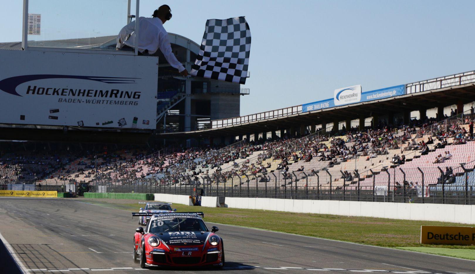 Jeffrey Schmidt, 911 GT3 Cup, Porsche Carrera Cup Deutschland, Hockenheimring, 2016, Porsche AG