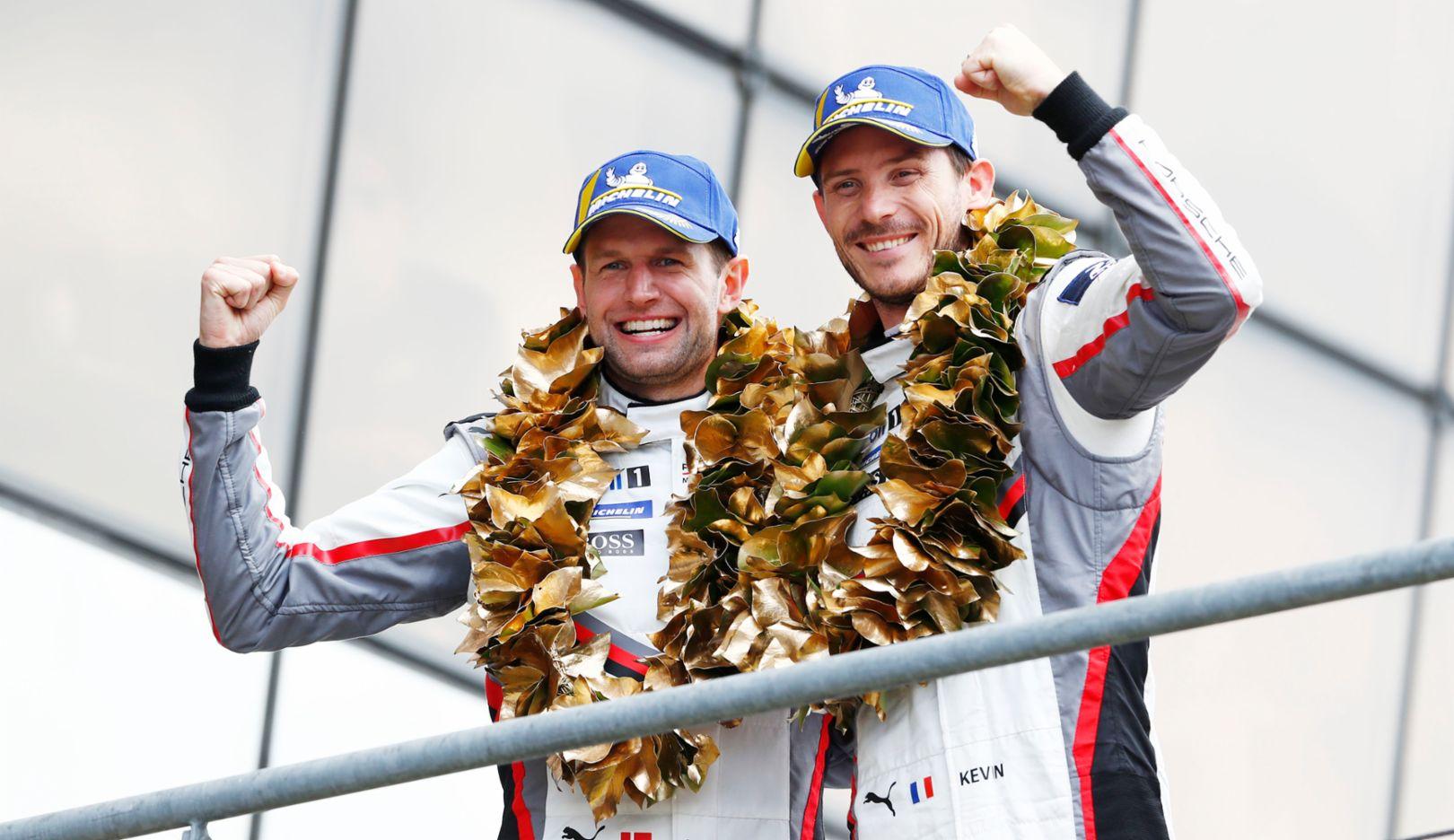 Michael Christensen, Kevin Estre, l-r, FIA WEC, race, Le Mans, 2019, Porsche AG