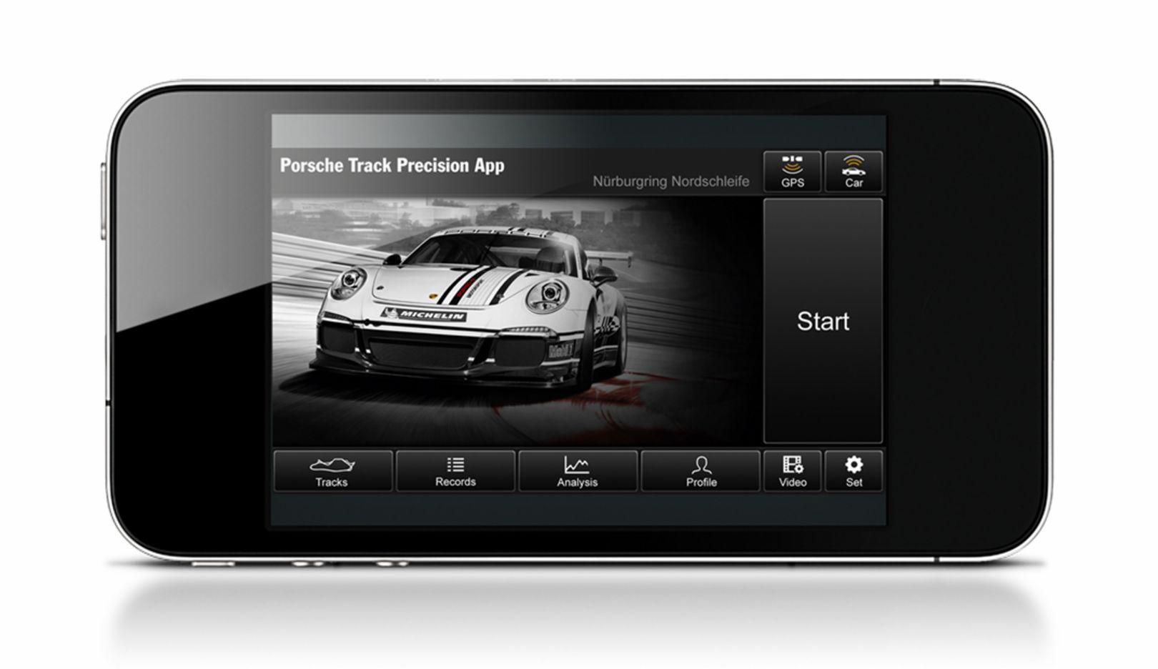 Porsche Track Precision App, 2015, Porsche AG