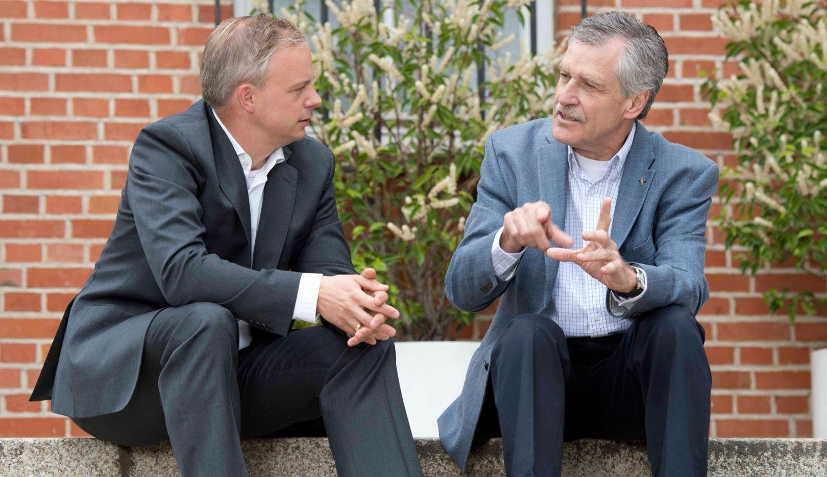 l-r, Arne Petersen, Porsche consultant;Norbert Majerus, Goodyear-Manager;2016, Porsche Consulting GmbH