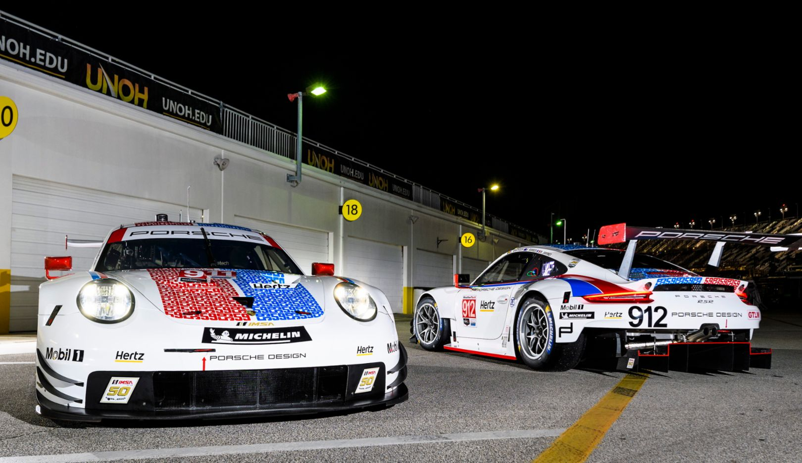 Porsche flies the Brumos Racing colours at Daytona and Sebring