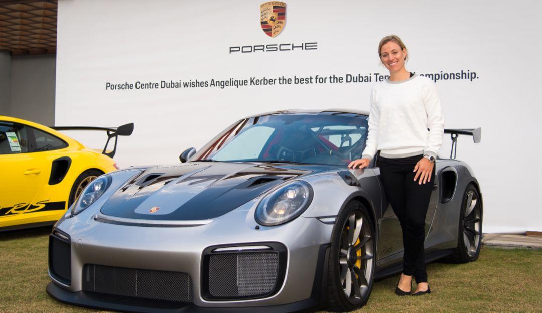 Angelique Kerber, 911 GT2 RS, Porsche Centre Dubai, 2019, Porsche AG