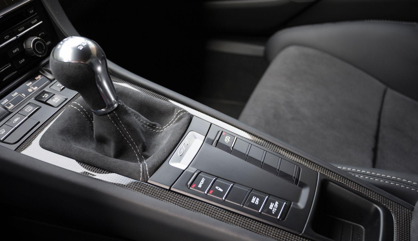 Cayman GT4, details, 2015, Porsche AG
