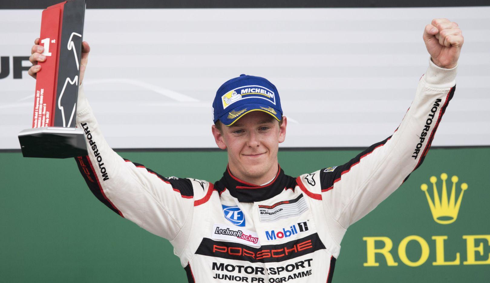 Dennis Olsen, Porsche Mobil 1 Supercup, Silverstone, Großbritannien, 2017, Porsche AG