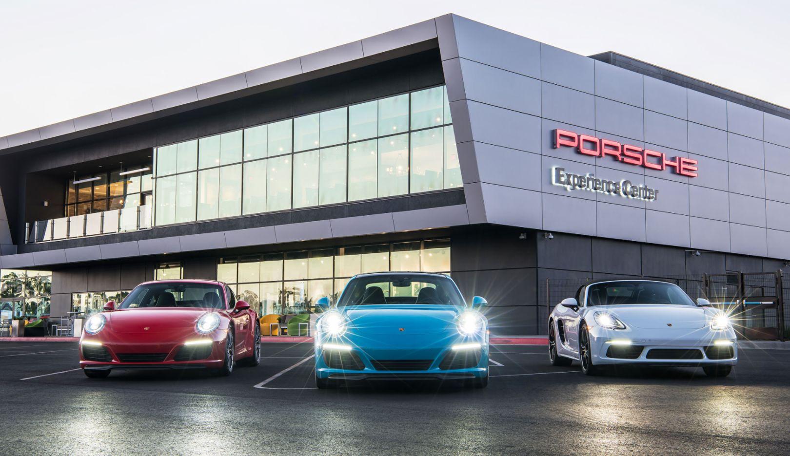 911 Carrera, 911 Carrera 4S, 718 Boxster S, Porsche Experience Center, Los Angeles, 2016, Porsche AG