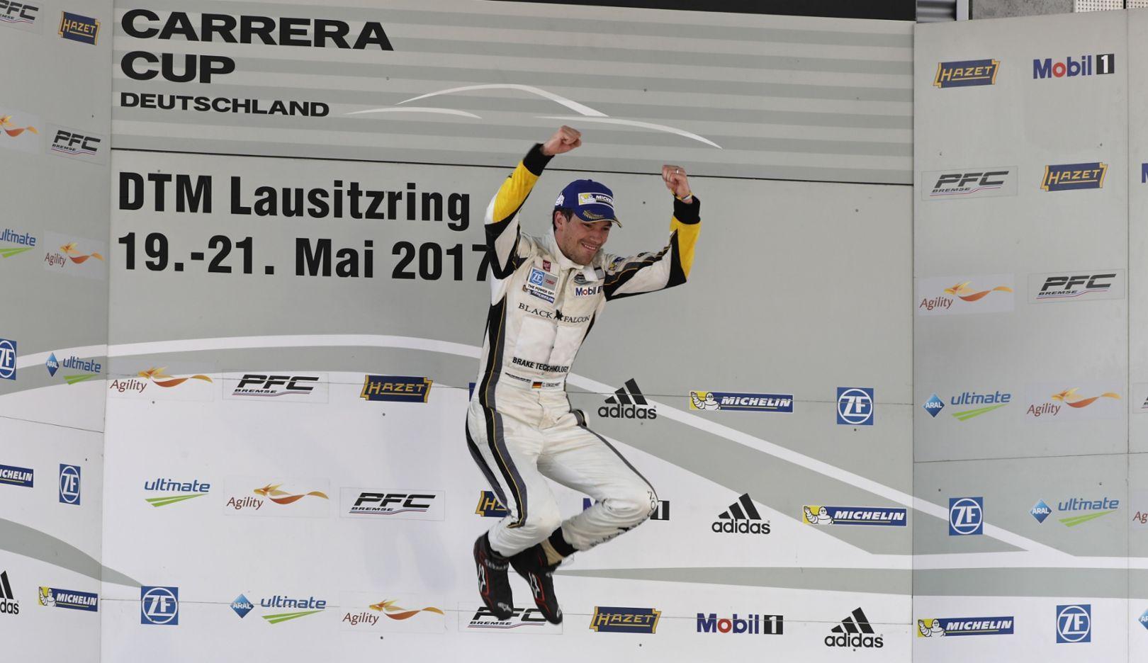 Christian Engelhart, Porsche Carrera Cup Deutschland, Race 3, Lausitzring, 2017, Porsche AG