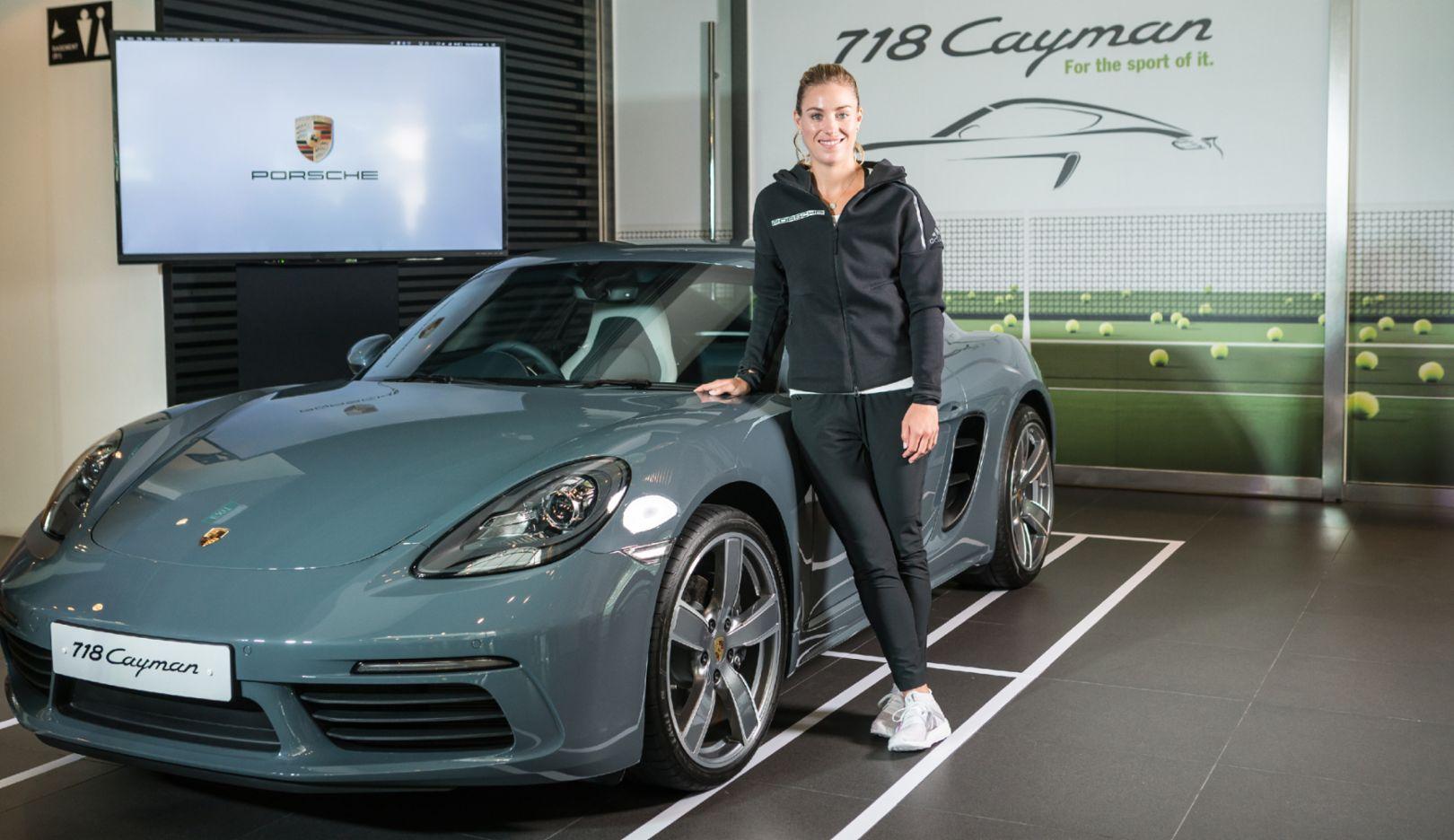Angelique Kerber, Porsche-Markenbotschafterin, 718 Cayman, Singapur, 2016, Porsche AG