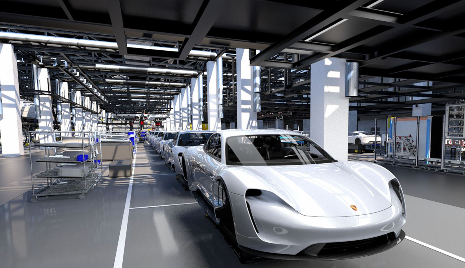Insights into Porsche production 4.0, 2018, Porsche AG