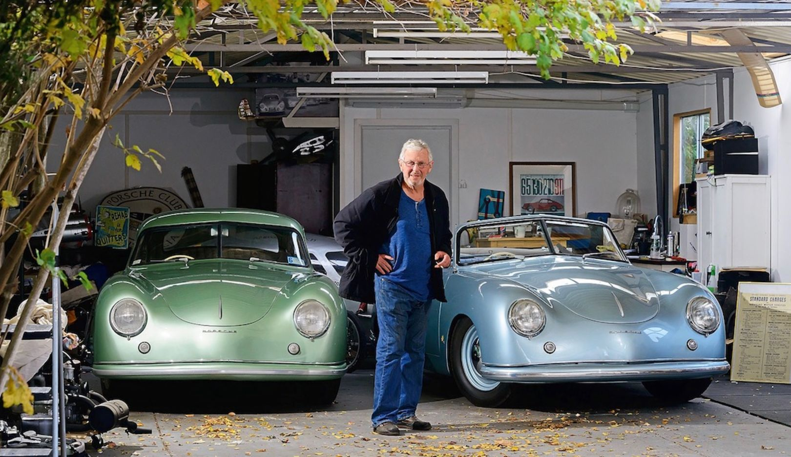 Greg O'Keefe, Porsche 356 Coupé, Porsche 356 convertible, l-r, 2018, Porsche AG