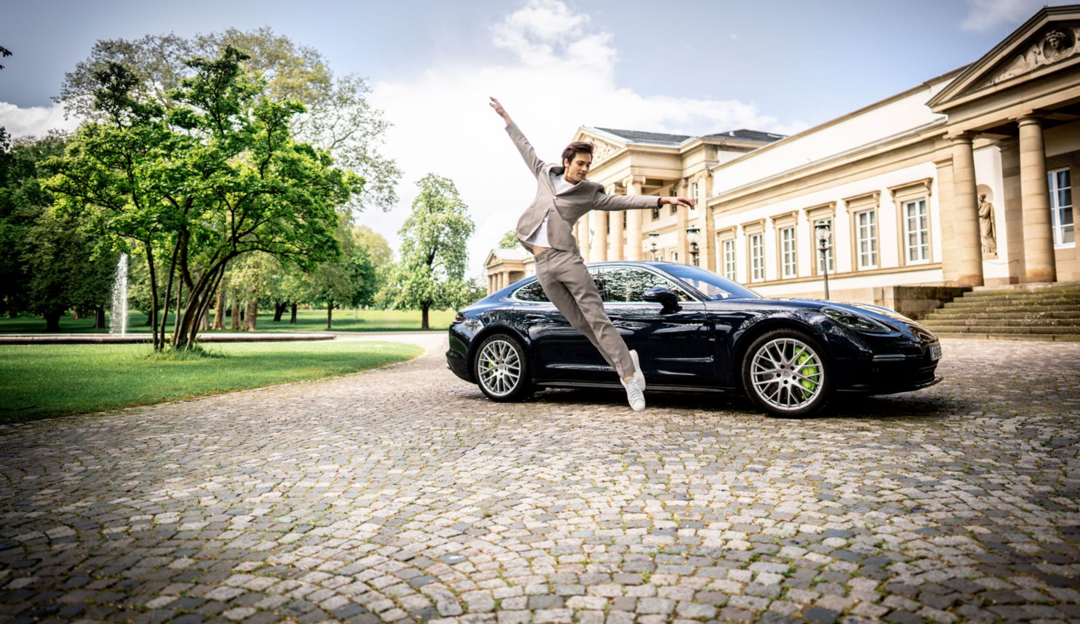 Friedemann Vogel, Balletttänzer, Panamera Turbo S E-Hybrid, Schloss Rosenstein, Stuttgart, 2019, Porsche AG