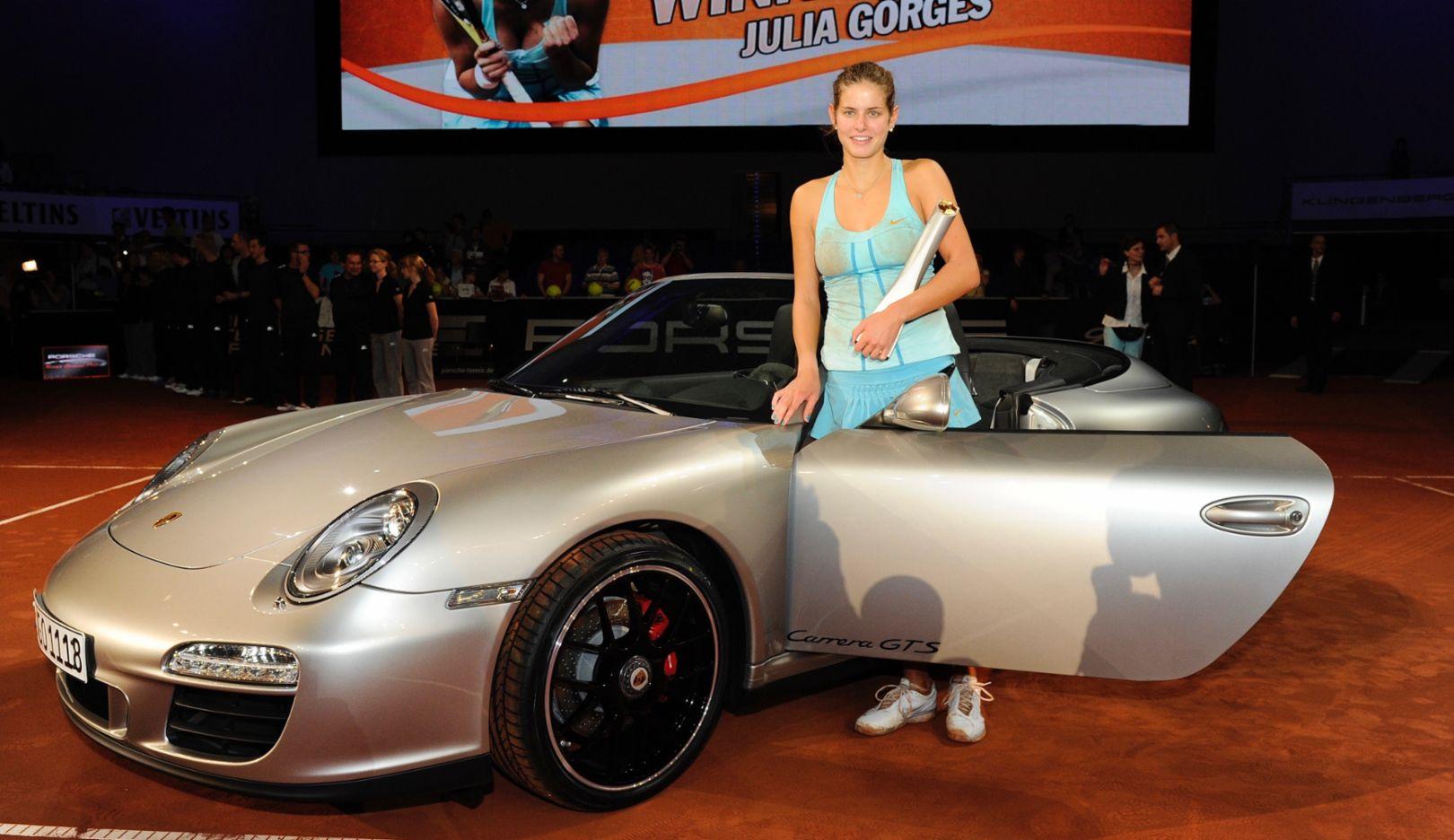 Julia Görges, Porsche-Markenbotschafterin, 911 Carrera GTS Cabriolet, 2017, Porsche AG