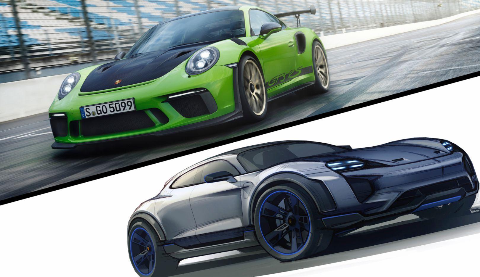 911 GT3 RS, Mission E Cross Turismo, 2018, Porsche AG