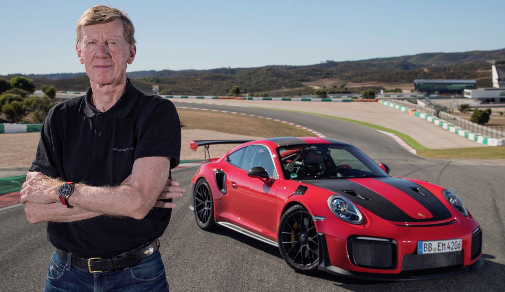 Walter Röhrl, 911 GT2 RS press test, Portimão, Portugal, 2017, Porsche AG