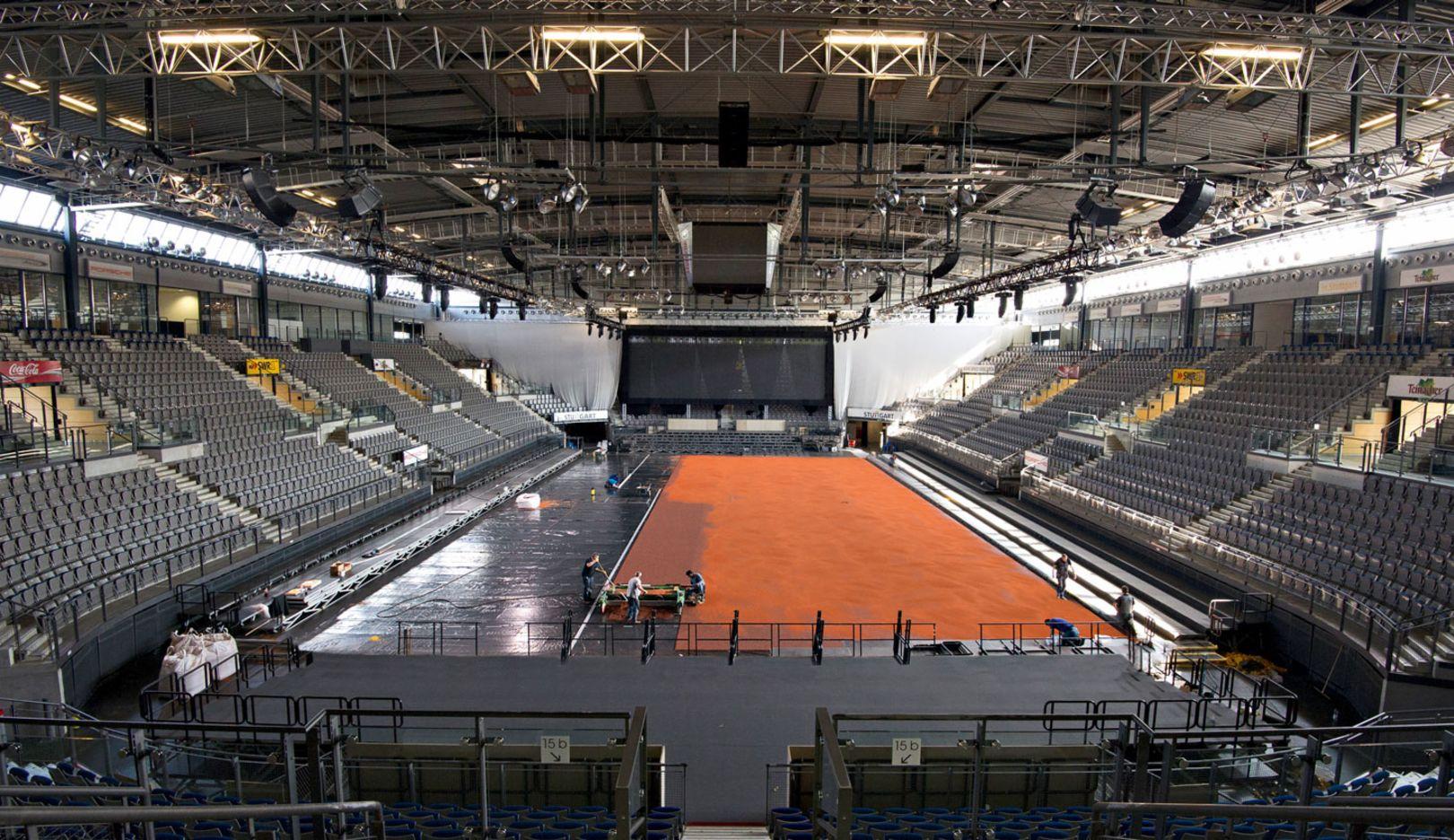 Aufbau Porsche Arena, 2015, Porsche AG