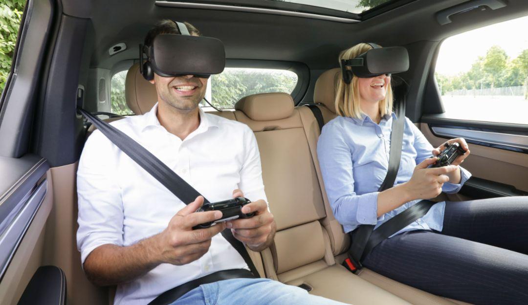 Виртуальные развлечения от holoride для пассажиров задних сидений, 2019, Porsche AG