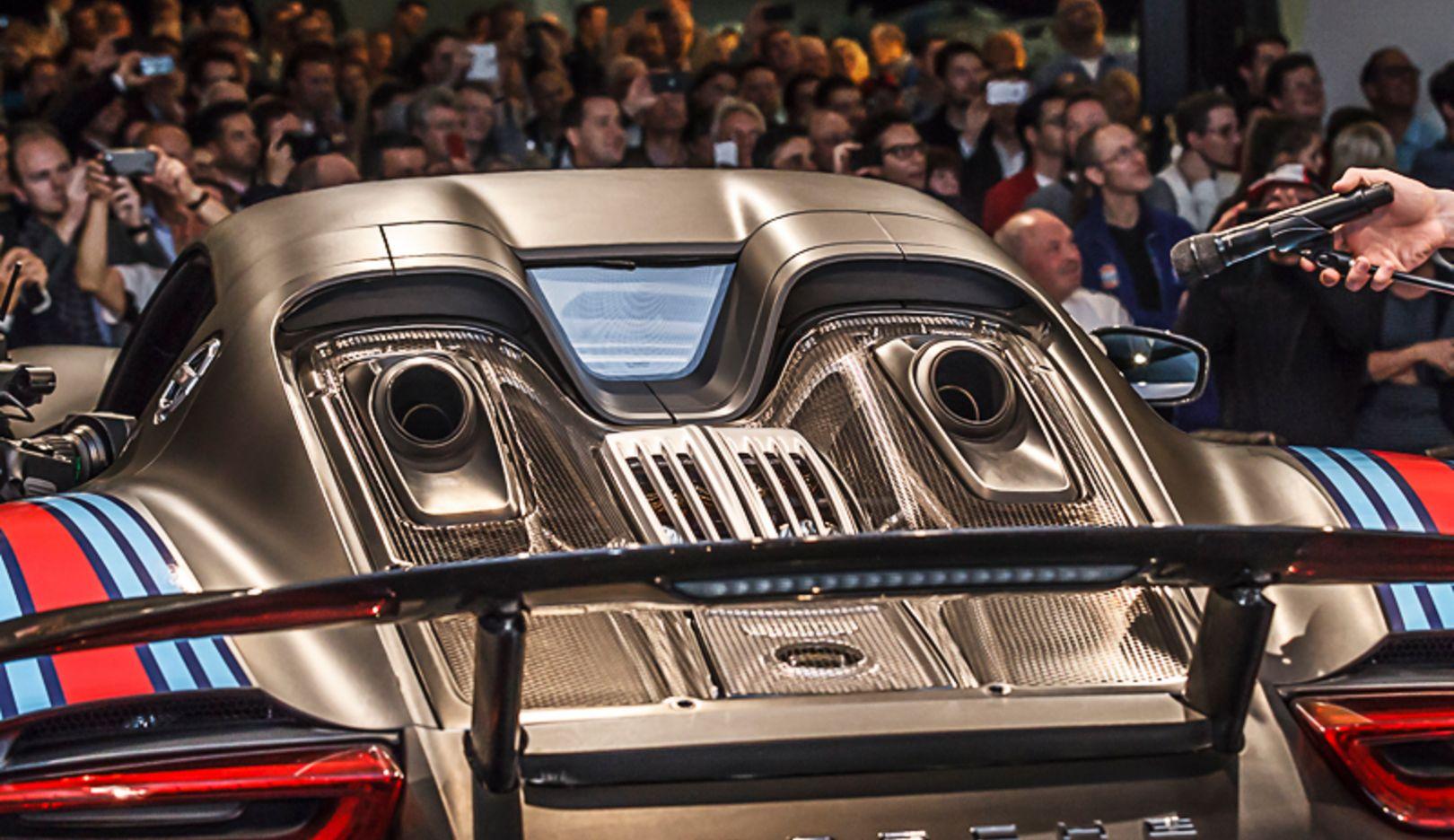 Soundnacht, 918 Spyder, Porsche-Museum, 2014, Porsche AG
