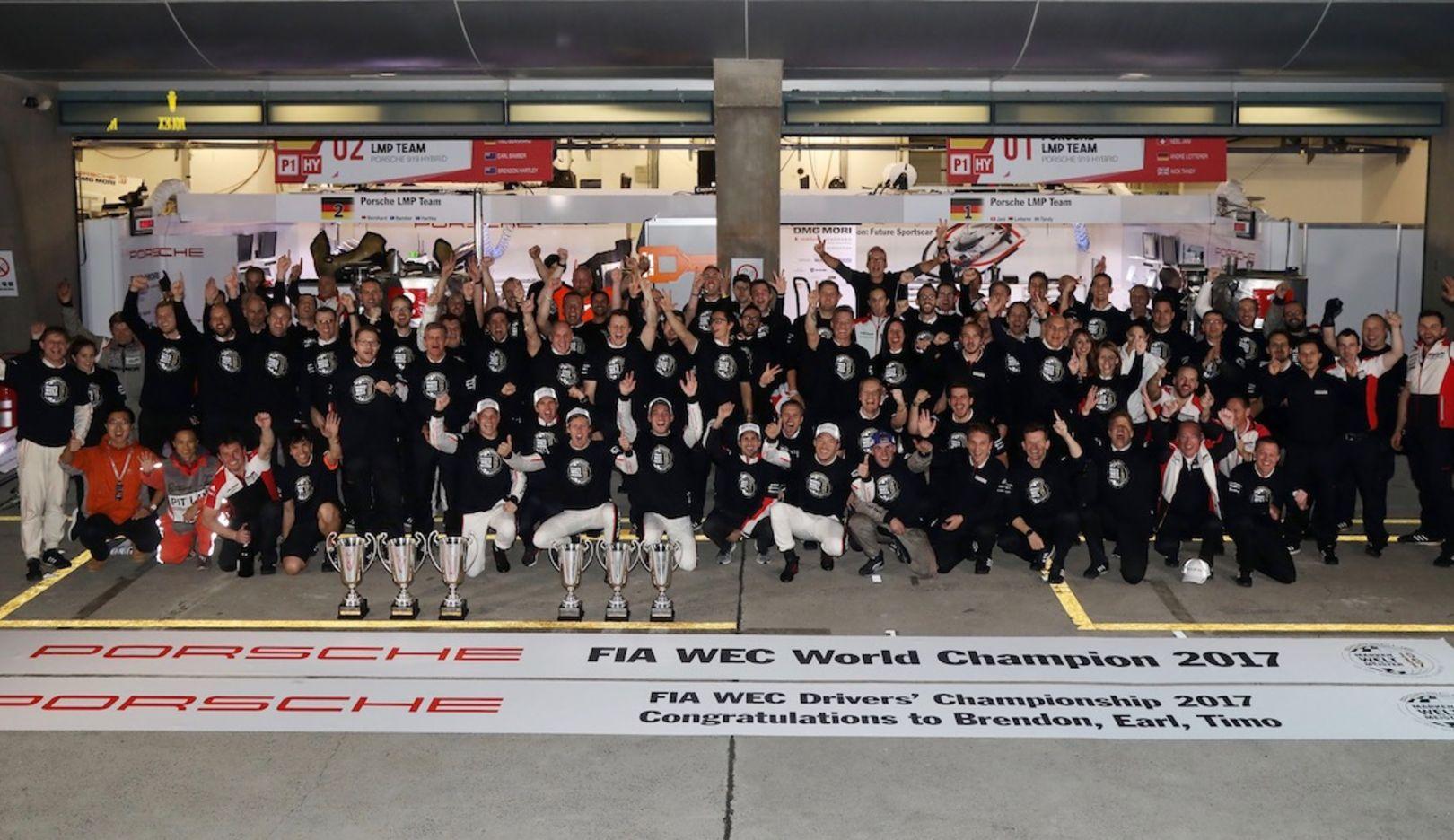 Porsche LMP1 Team, WEC, Shanghai, Rennen, 2017, Porsche AG