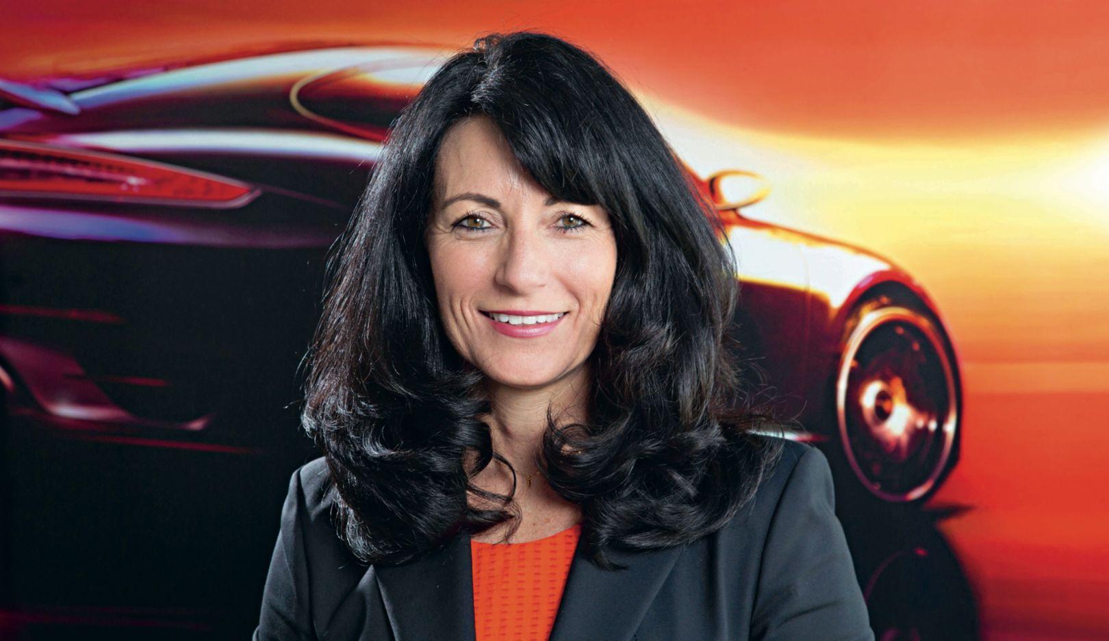 Barbara Vollert, Head of the international distribution network, 2015, Porsche AG