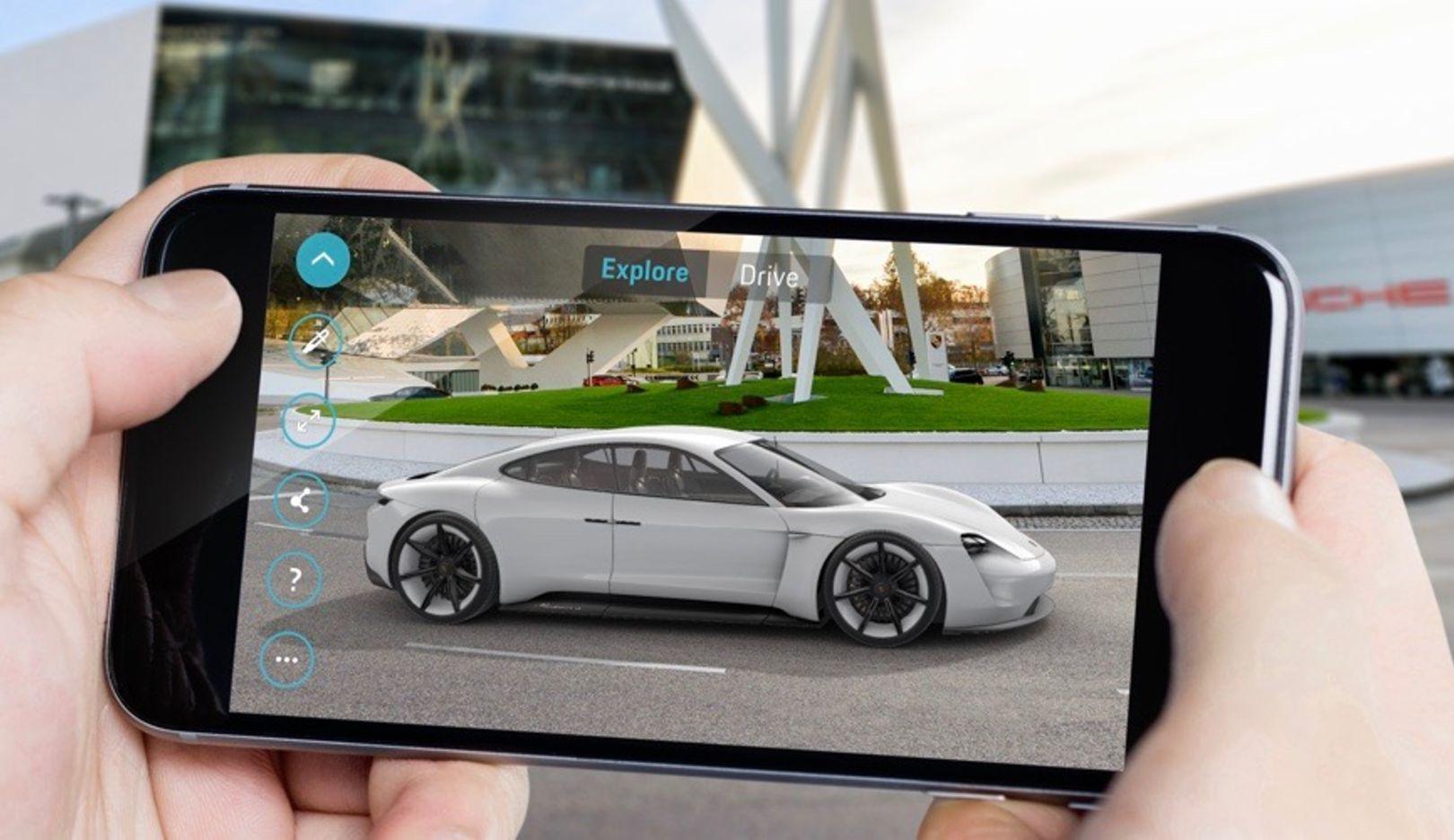 Mission E Augmented Reality app, 2018, Porsche AG
